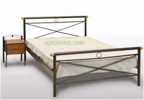 Κρεβάτι Μεταλλικό Μονό ή Ημίδιπλο Γογ-Σαντορίνη