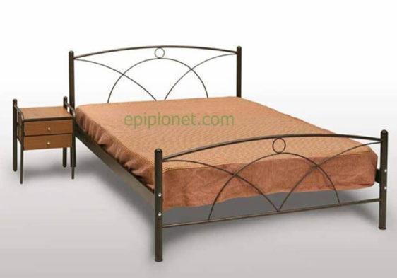 Κρεβάτι μεταλλικό μονό ή ημίδιπλο Γογ-Νάξος