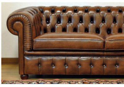 Καναπές τ.chesterfield από τεχνόδερμα C-105012