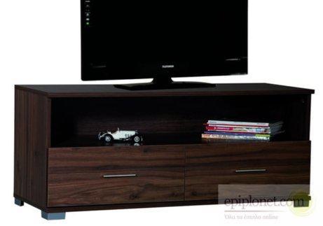 Απλό έπιπλο τηλεόρασης καρυδ'ι