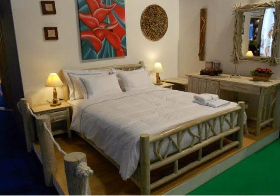 Κρεβάτι Από Κορμούς Δέντρων Ε-146534