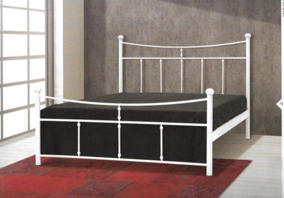Παραδοσιακό Μεταλλικό Λευκό Κρεβάτι Γ-050652