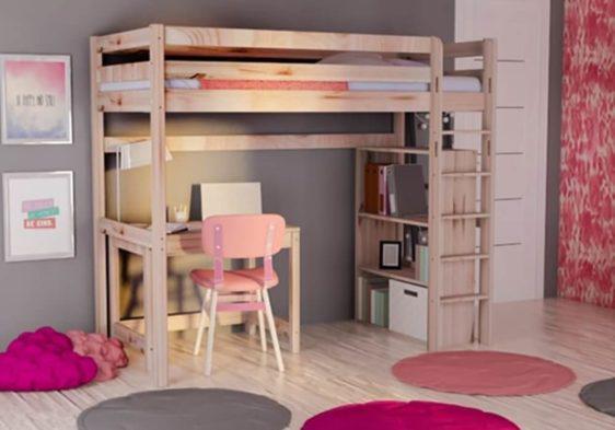 Ψηλό Κρεβάτι Με Χώρο Για Γραφείο Sa-050619