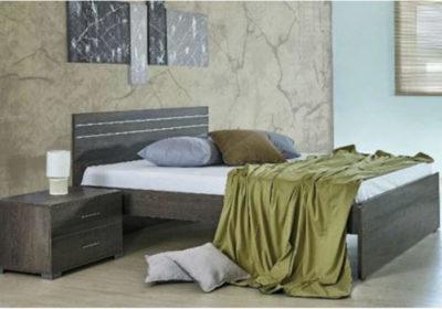 Ξύλινο Γκρι Κρεβάτι Υπέρδιπλο, Διπλό, Μονό και Ημίδιπλο Α-050440