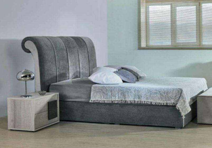 Υφασμάτινο Κρεβάτι με Υπόστρωμα Κλασικού Σχεδιασμού Α-050473