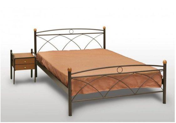 Κρεβάτι Μεταλλικό Με Ξύλινες Μπάλες Γ-200028