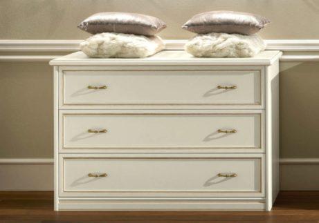 Συρταριέρα λευκή με τρία ράφια