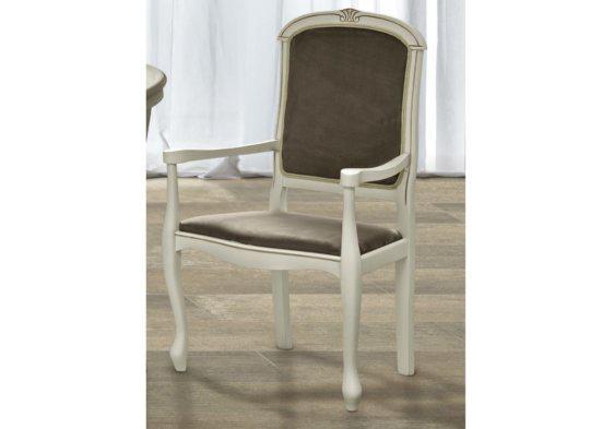 Νεοκλασσική λευκή πολυθρόνα