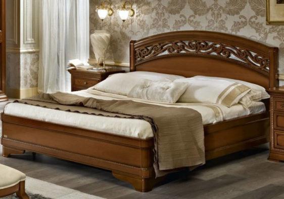 Κρεβάτι από Ξύλο Καρυδιάς Και Χαμηλό Πόδι CG-050452