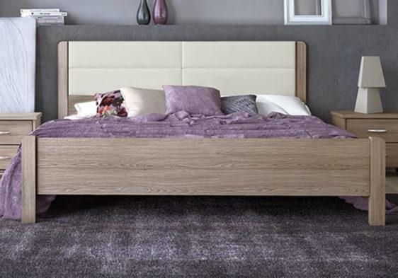 Κρεβάτι με Γεωμετρικό Σχήμα Στο Κεφαλάρι Sa-050462