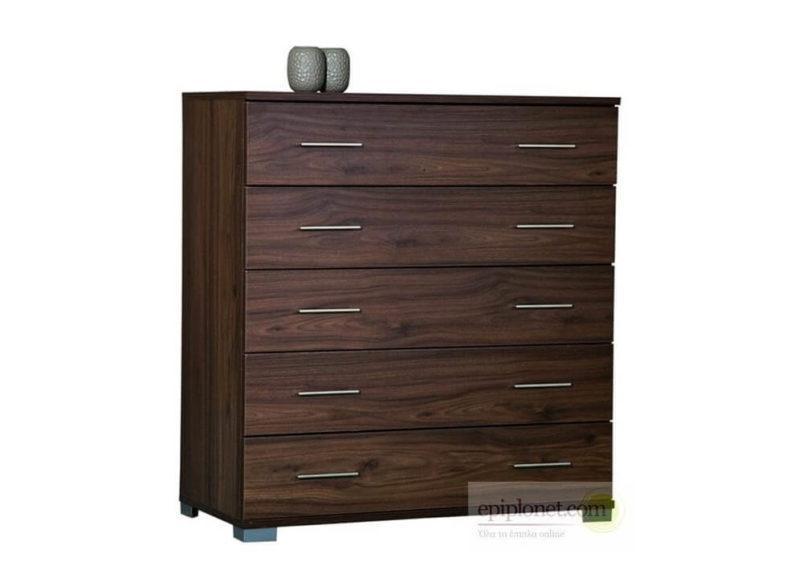 Συρταριέρα με 5 συρτάρια 90*45*97 εκ.ύψος Α-270257