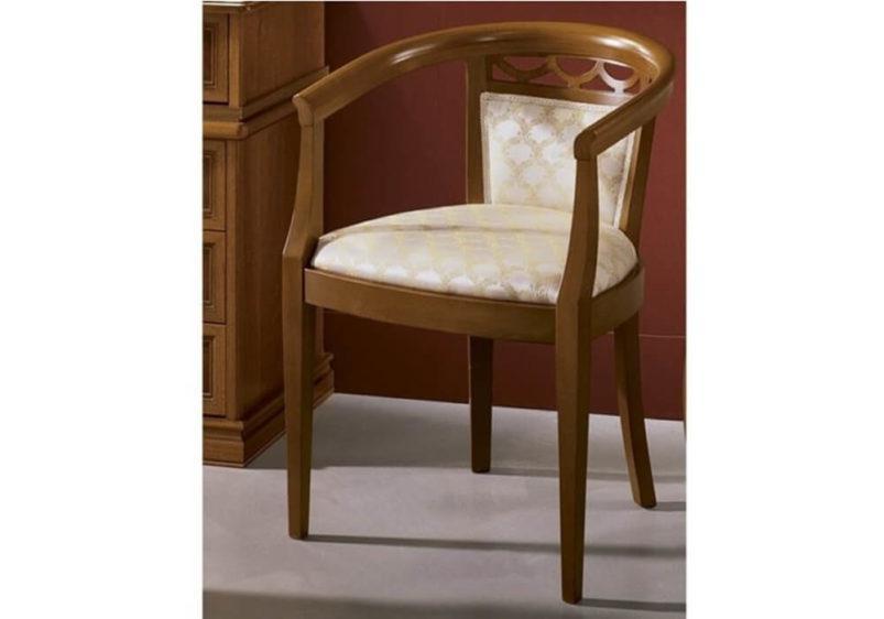 Ξύλινη Πολυθρόνα με Κυκλική Πλάτη CG-135108