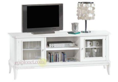 Παραδοσιακό έπιπλο τηλεόρασης με αποθηκευτικούς χώρους