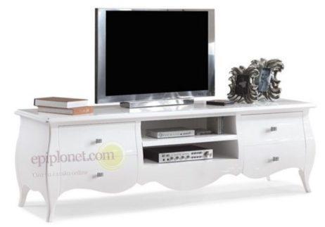 Έπιπλο τηλεόρασης με δύο ραφάκια και τέσσερα συρτάρια