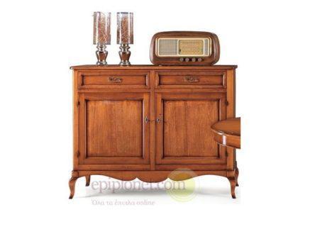 Κλασσικός ξύλινος μπουφές με δύο πορτάκια και δύο συρτάρια