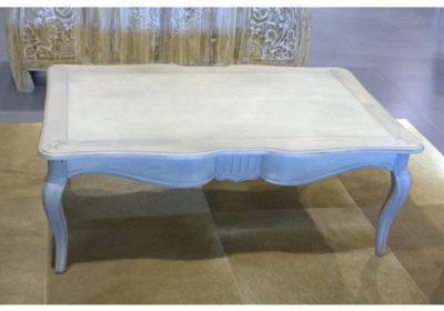 Τραπέζι Σαλονιού Με Τρία Συρτάρια σε Λευκή Πατίνα J-121225