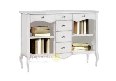 Βιβλιοθήκη-Μπουφές σε Λευκή Vintage Απόχρωση TE-126590