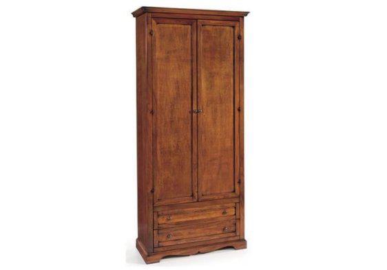 Ψηλή δίφυλλη ντουλάπα με συρτάρι