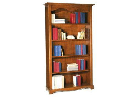 Ψηλή ξύλινη βιβλιοθήκη με πέντε ράφια