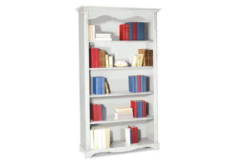 Ξύλινη βιβλιοθήκη με πέντε ράφια