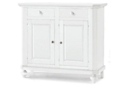 Λευκός μπουφές με δύο πορτάκια και δύο συρτάρια
