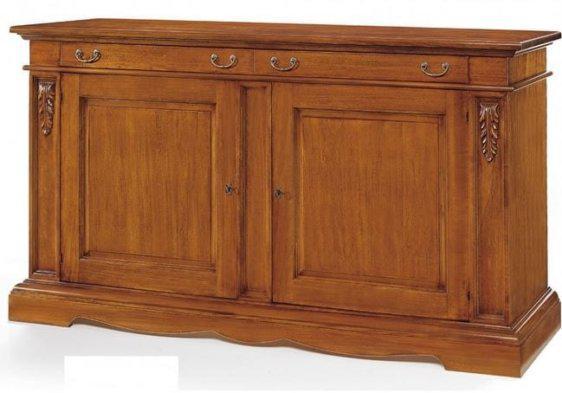 Ξύλινος μπουφές με δύο πόρτες και δύο συρτάρια