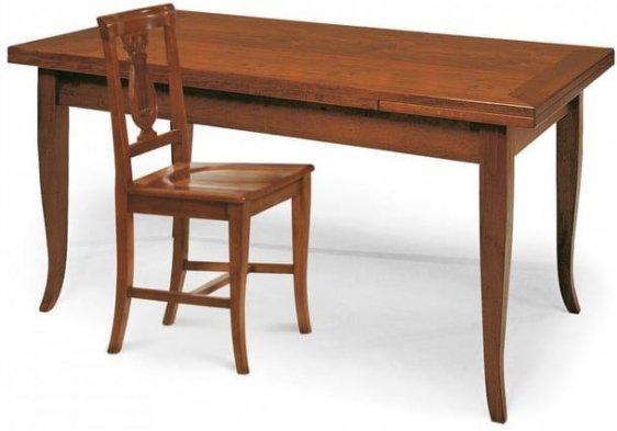Ξύλινο τραπέζι με δύο φύλλα ανοιγόμενο με δύο φύλλα επέκτασης