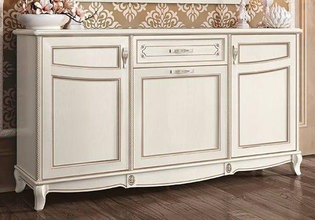 Λευκός ρομαντικός μπουφές με τρία ντουλαπάκια