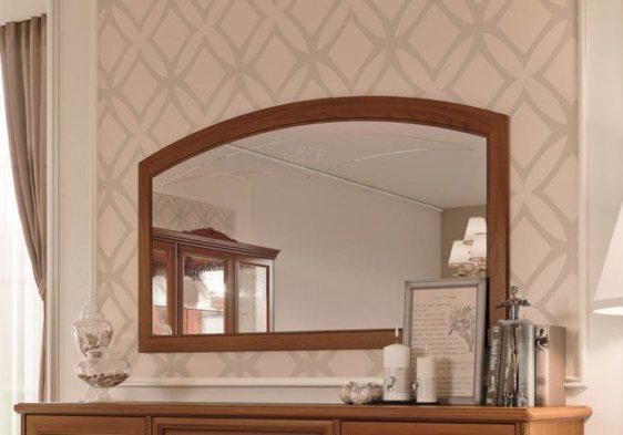 Ξύλινος καθρέφτης σε καφέ χρώμα