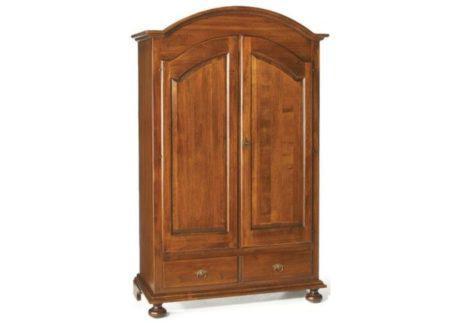 Δίφυλλη καμπυλωτή ντουλάπα με δύο συρτάρια