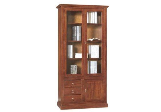 Ιταλική βιβλιοθήκη με τέσσερα ράφια τρία συρτάρια και ένα ντουλαπάκι