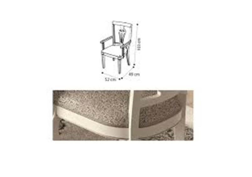 Καρέκλα Κουζίνας Λευκή με Κλασικό Ύφασμα CG-135137