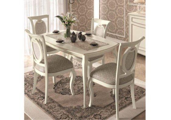 Κλασσικό τραπέζι κουζίνας σε λευκό ή καρυδί