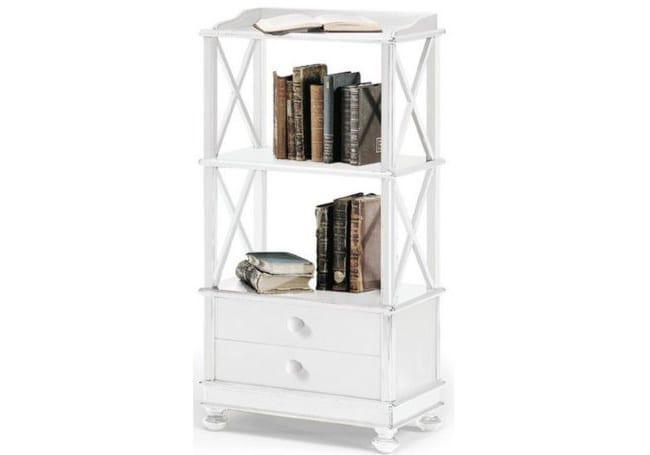 Μικρή βιβλιοθήκη με δύο ράφια και δύο συρτάρια