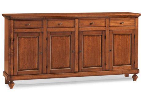 Ιταλικός ξύλινος μπουφές με τέσσερις πόρτες