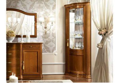 Γωνιακή Βιτρίνα Με Ύφασμα ή Καθρέφτη Εσωτερικά CG-126652