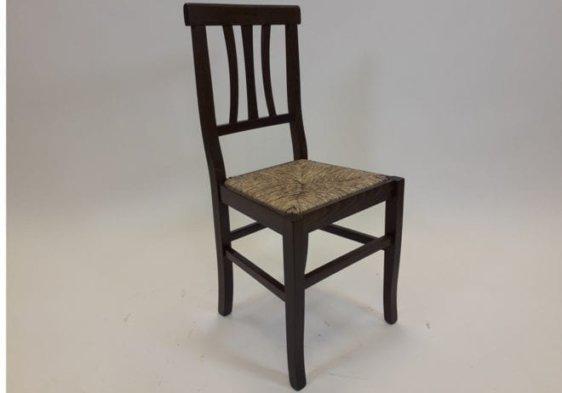 Ξύλινη Ιταλική καρέκλα με ψάθινο κάθισμα