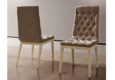 καφέ καπιτονέ καρέκλα τραπεζαρίας