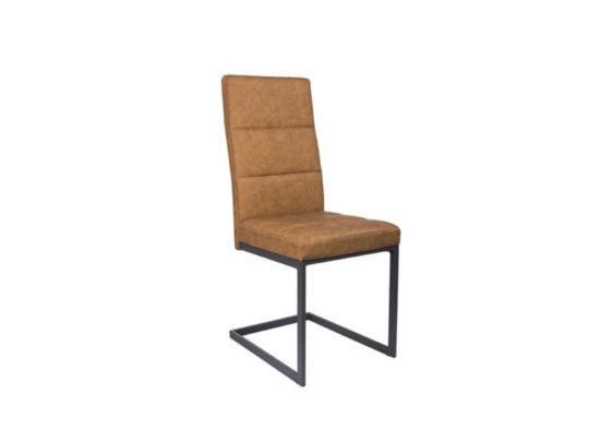 Καρέκλα Ντυμένη με Δερματίνη και Μεταλλική Βάση V-190370