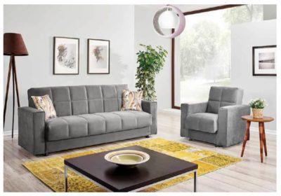 Τριθέσιος Καναπές Κρεβάτι σε Τρία Χρώματα Ef-105036