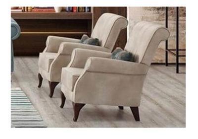 Αναπαυτική Πολυθρόνα με Βελούδινο Ύφασμα Ef-135150