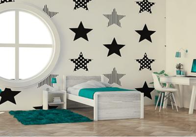 Εφηβικό Κρεβάτι Ξύλινο Σε Πολλές Αποχρώσεις S-280042