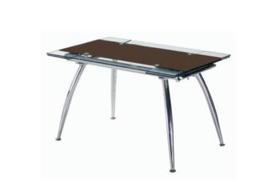Γυάλινο Ανοιγόμενο Τραπέζι σε Διάφορες Αποχρώσεις 140229