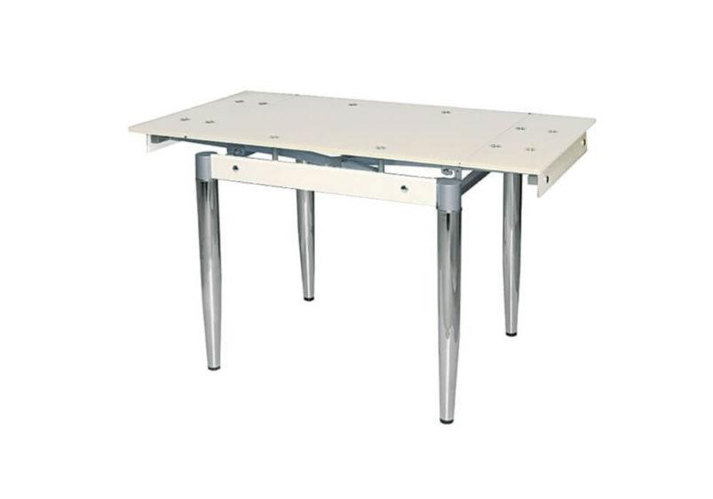 Γυάλινο Τραπέζι Ανοιγόμενο με Μεταλλικά Πόδια 140228