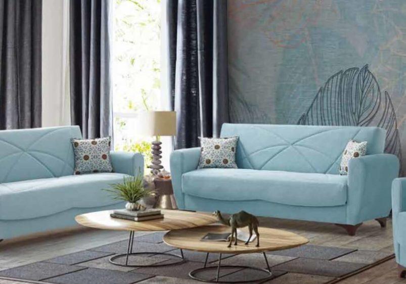 Μπεζ Υφασμάτινος Καναπές Κρεβάτι Ef-105050