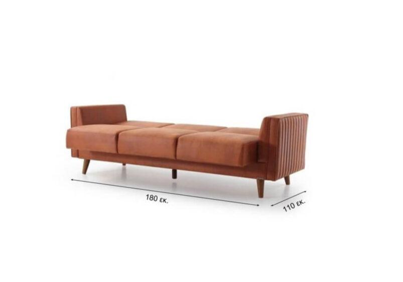 Ρετρό Ανοιγόμενος Καναπές Κρεβάτι Ef-105046
