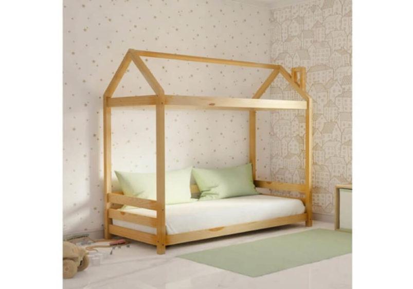 Καναπές - Παιδικό Κρεβάτι Με Σκεπή Οξιά S-280051
