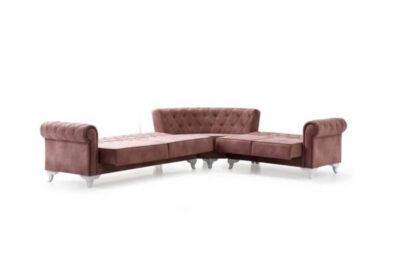 Γωνιακός chesterfield καναπές κρεβάτι Ef-100103