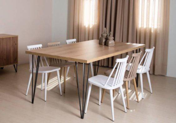 Τραπέζια ξύλο και μέταλλο