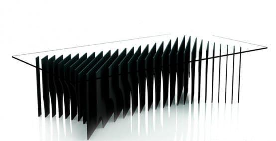 Από γυαλί και μαύρη λάκα Rlos Design